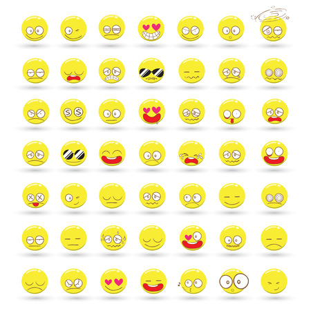 Set of Emotions vector cartoon Vector