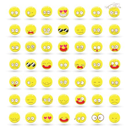 Set of Emotions vector cartoon Vector
