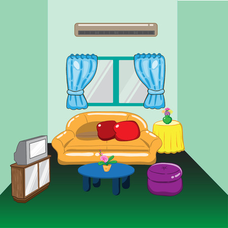 Illustration of a living room Vector