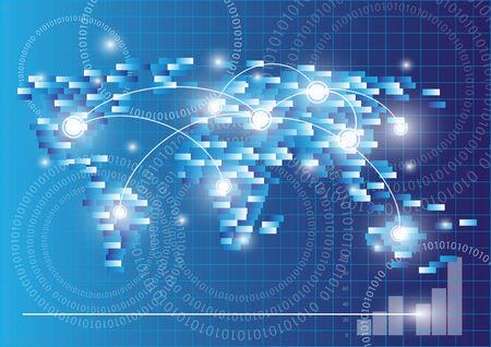 globális kommunikációs: Térkép és globális kommunikációs koncepció