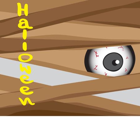 Halloween concept from zombie, cartoon vector Vector