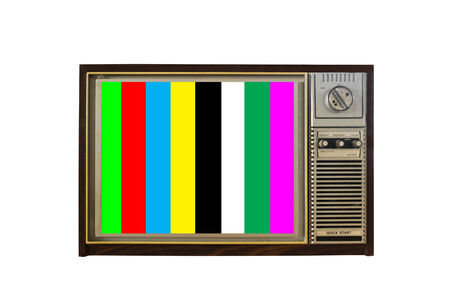 retro tv on white background photo