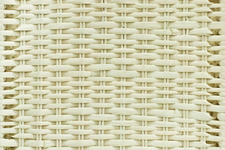 cane chair: A white white basket weave pattern