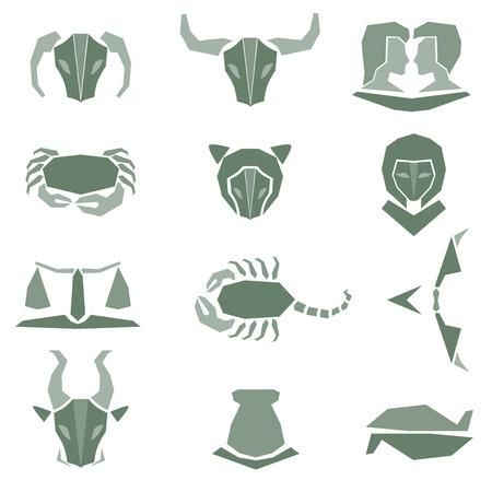 astrological: Set of astrological zodiac symbols