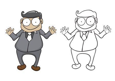 scribe: Character of businessman vector cartoon Illustration