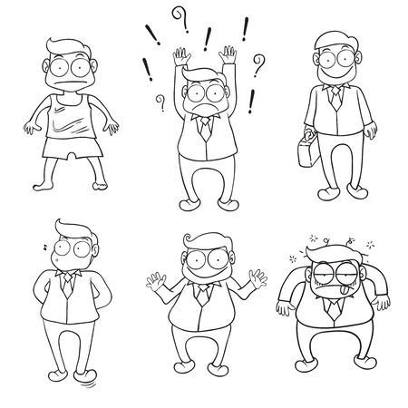 Character of businessman vector cartoon Illustration