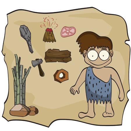 edad de piedra: Piedra de dibujos animados edad, ilustraci�n vectorial