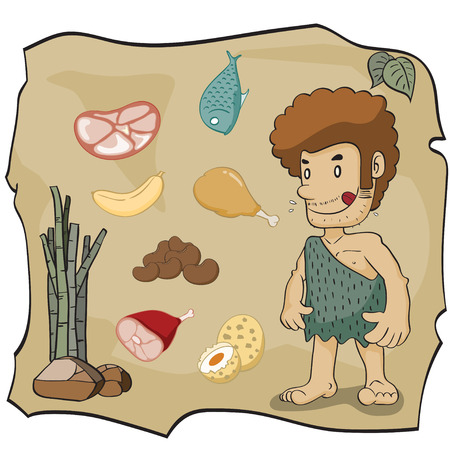 stone age: Stone age cartoon,vector illustration