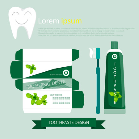getting ready: Design products to clean the mouth, Toothpaste herb.