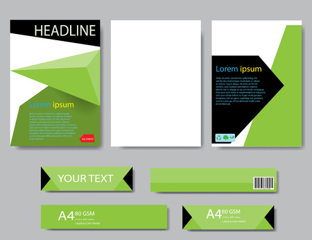 magazine layout: Design cover paper report. Abstract geometric vector template. Design template