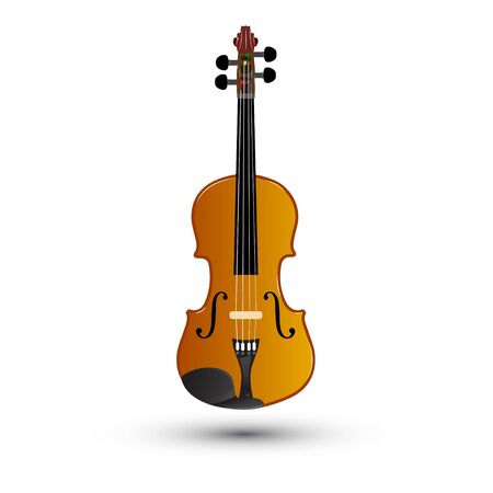 fiddle bow: Violin on a white background, vector illustration Illustration