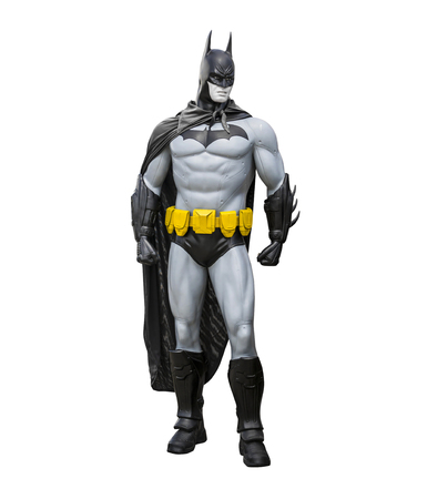 batman: Phayao,Thailand - October 18, 2015: Batman statue isolate on a white background