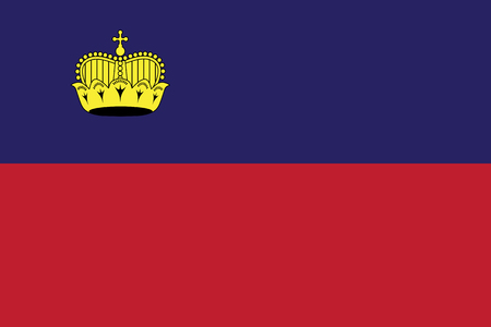 Liechtenstein Flag vector illustration. Liechtenstein Flag. National Flag of Liechtenstein.