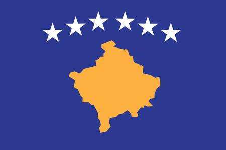 Kosovo Flag vector illustration. Kosovo Flag. National Flag of Kosovo. Illusztráció