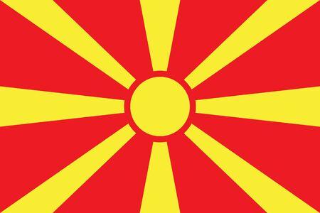 Macedonia Flag vector illustration. Macedonia Flag. National Flag of Macedonia.