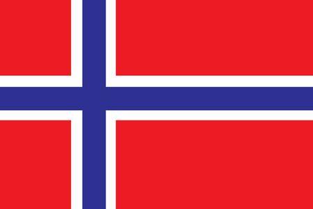 Norway Flag vector illustration. Norway Flag. National Flag of Norway. Illustration