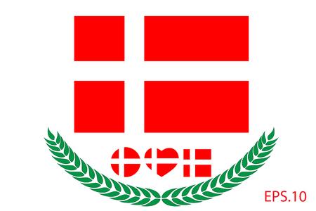 Denmark Flag vector illustration. Denmark Flag. National Flag of Denmark. Ilustrace