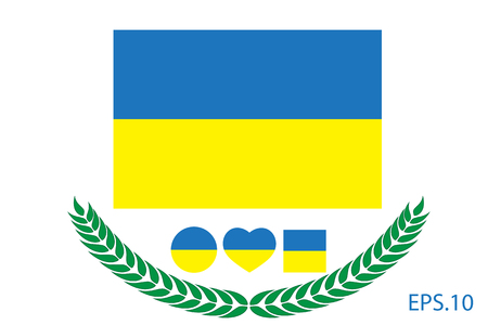 Ukraine Flag vector illustration. Ukraine Flag. National Flag of Ukraine.