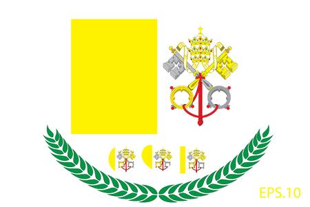 Vatican Flag vector illustration. Vatican Flag. National Flag of Vatican.