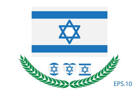 Vector illustration of Israel flag. eps 10 Illustration