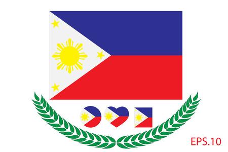 Vector illustration of Philippine flag. eps 10