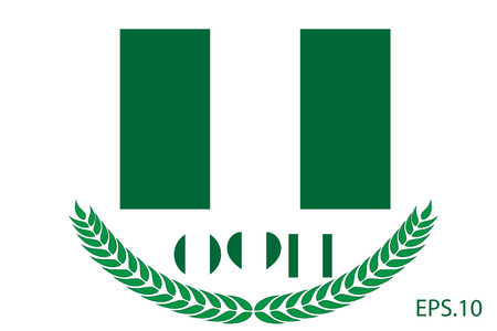 Official vector flag of Nigeria. Eps.10 Çizim