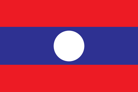 Vector illustration of Laos flag. Illusztráció