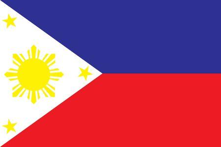 フィリピンの旗のベクター イラストです。  イラスト・ベクター素材