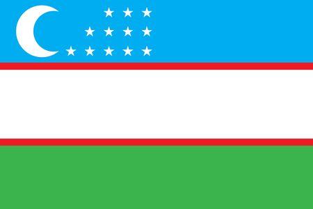 Illustration of  Uzbekistan flag. Illustration