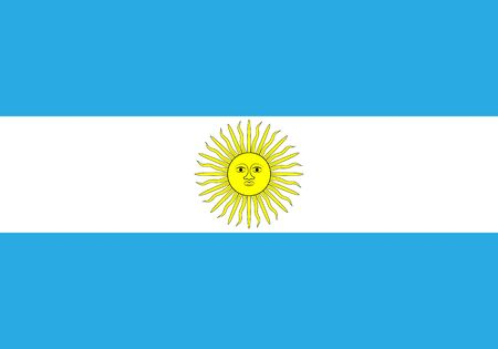 Flag of Argentina vector illustration.
