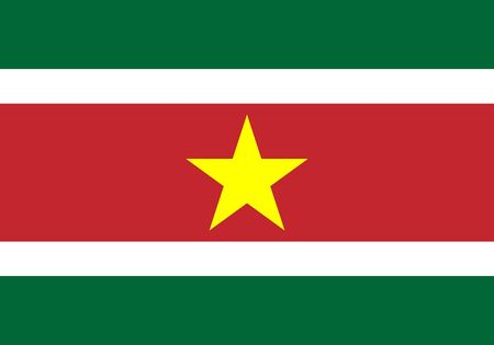 Flag of Suriname vector illustration.
