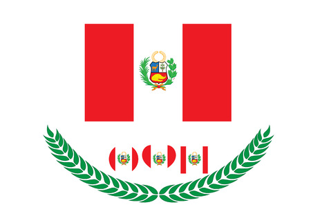 Peru Flag vector illustration. Peru Flag. National Flag of peru on white background Illustration