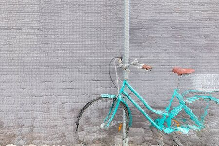 diffuse: abstract wall diffuse design with bicycle