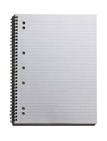 lined: blank lined notebook on isolated2