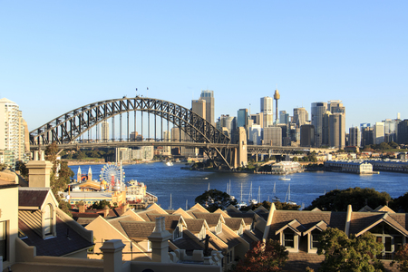 australian landscape: Harbour Bridge and Cityscape Sydney Australia