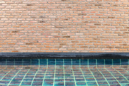 waterpool: Brick wall and swimming pool