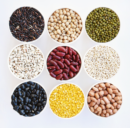 collection of different legumes