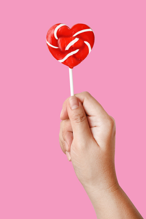 heart lollipop for background Stock Photo