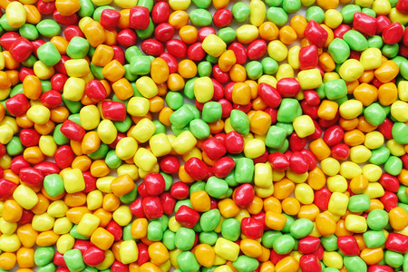 Close up of colorful candies for background Stock Photo