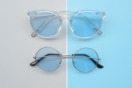 Modern fashionable sunglasses  for background Stock Photo