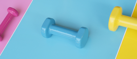 close up of dumbbell for background