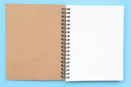 close-up van notitieboekje voor achtergrond Stockfoto