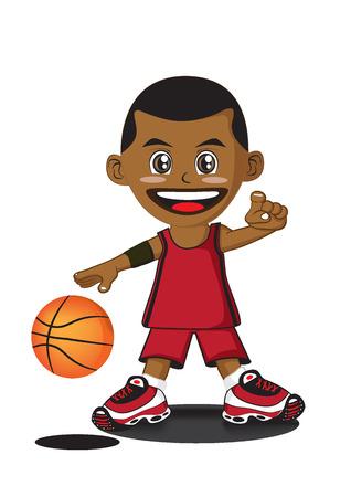 illustration of cartoon basketball player Vector