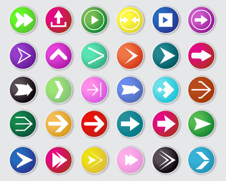 electric hole: vector of arrow icon set  on white background