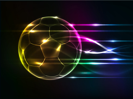 fire ball: Abstract football background Illustration