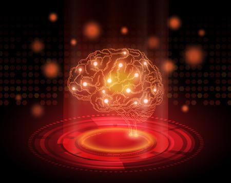 뇌와 배경을 생각의 개념 스톡 콘텐츠 - 29462776