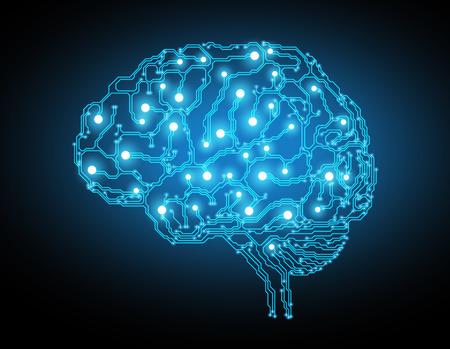 pojetí myšlení pozadí s mozkem