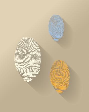 finger proof: vector finger print