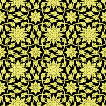 seta thailandese: pattern di sfondo tailandese Vettoriali