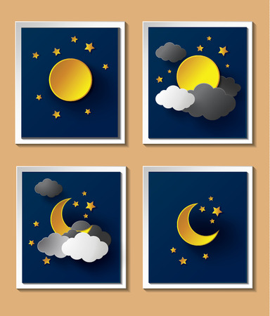 nightfall.paper 예술에 달 추상 종이 날씨입니다.